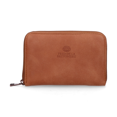 Wallet-small-hand-buffed-leather-Cognac
