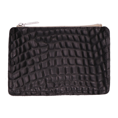 Wallet-croco-printed-leather-Black