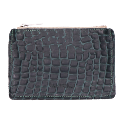 Wallet-croco-printed-leather-Green