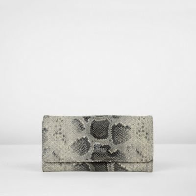 Wallet-faux-python-leather-Taupe