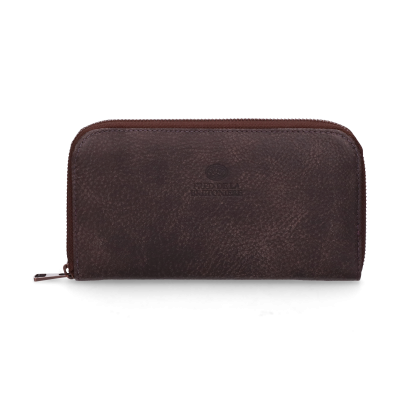 Wallet-medium-hand-buffed-leather-Dark-Brown