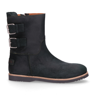 KIDS-//-Ankle-boot-waxed-suede-Dark-Green-28-35