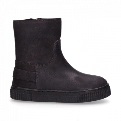 KIDS-//-Ankle-boot-waxed-suede-Grey-28-35