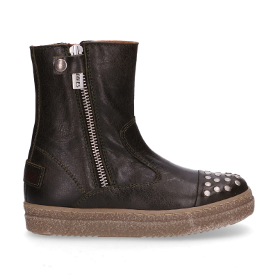 KIDS-//-Ankle-boots-polished-leather-Dark-Green-28-35-