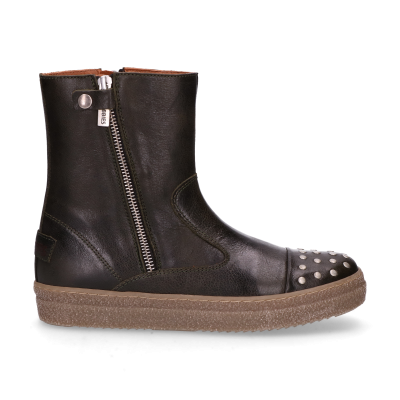 KIDS-//-Ankle-boots-polished-leather-36-39-Dark-Green