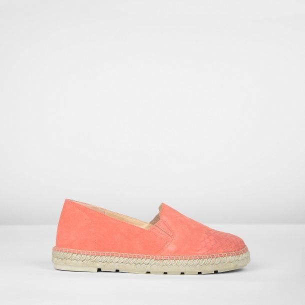 Espadrille-loafer-suede-coral-red