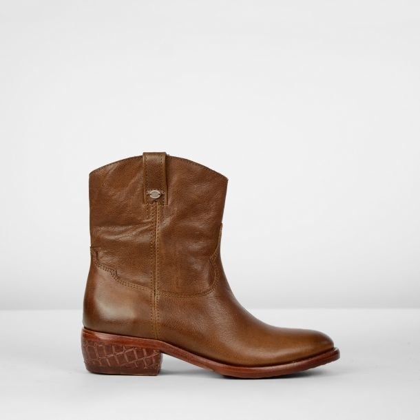 Ankle boot grain leather Brown