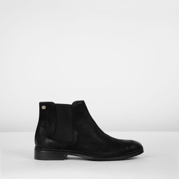 Chelseaboot nubuck leather Black