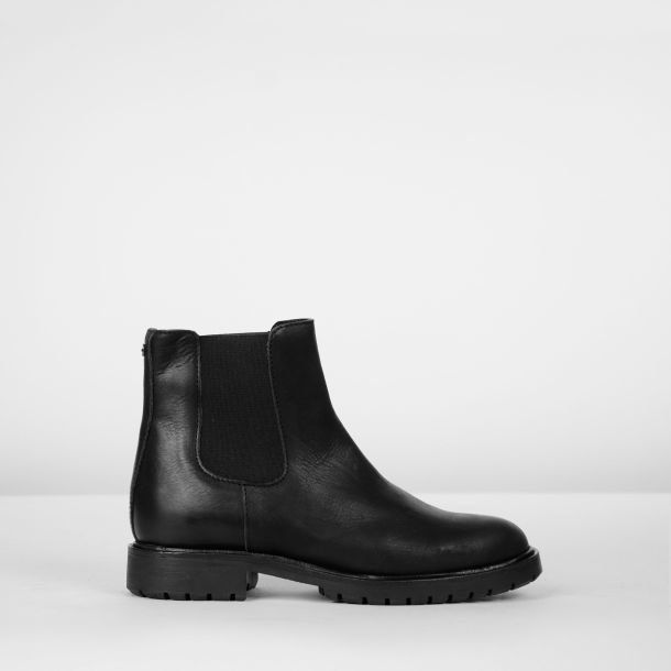 Chelseaboot grain leather Black