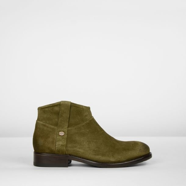 Ankle boot suede Olive Green