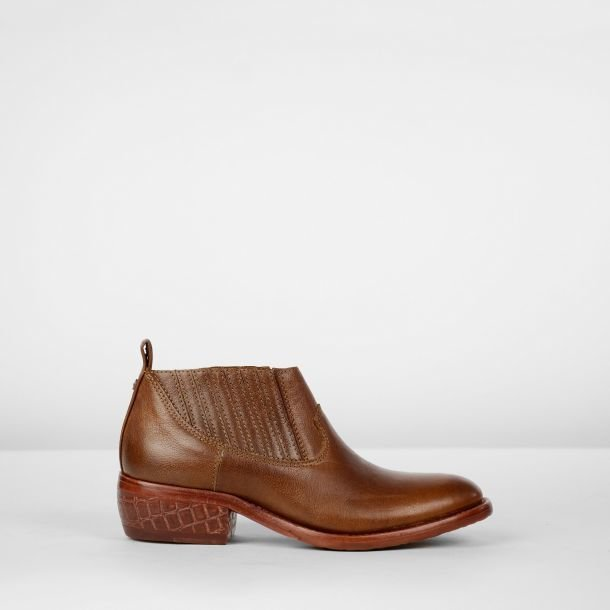 Chelseaboot grain leather Brown