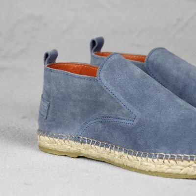 loafer espadrille shabbies amsterdam in jeans blauw suède 152020003 detail