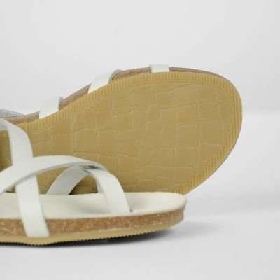 White leather sandal fred de la bretoniere 170010009 detail sole