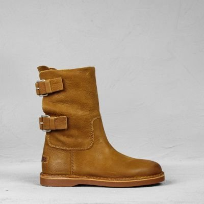 Ankle-boot-waxed-grain-leather-Caramel
