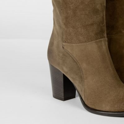 Boot-suede-Taupe