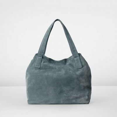Handbag-suede-Denim-Blue
