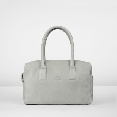 Handbag-hand-buffed-leather-Light-Grey
