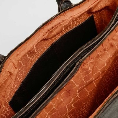 Laptop-bag-printed-leather-Dark-Brown