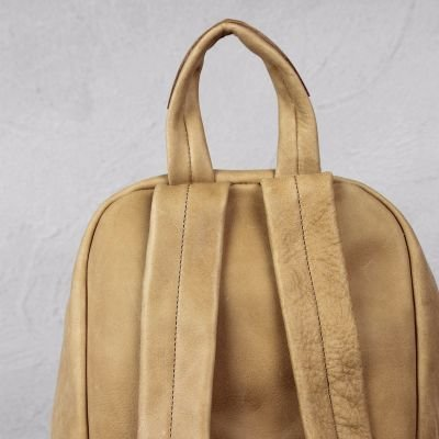 Backpack-heavy-grain-leather-Light-Brown