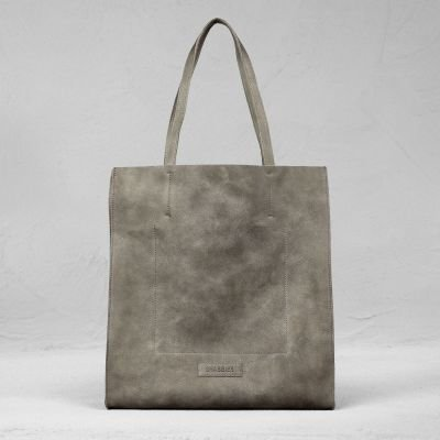 Shopping-bag-hand-buffed-leather-Taupe