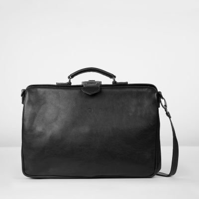 Business-bag-hand-buffed-leather-Black