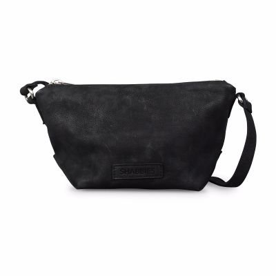 Shoulderbag-waxed-grain-leather-Black