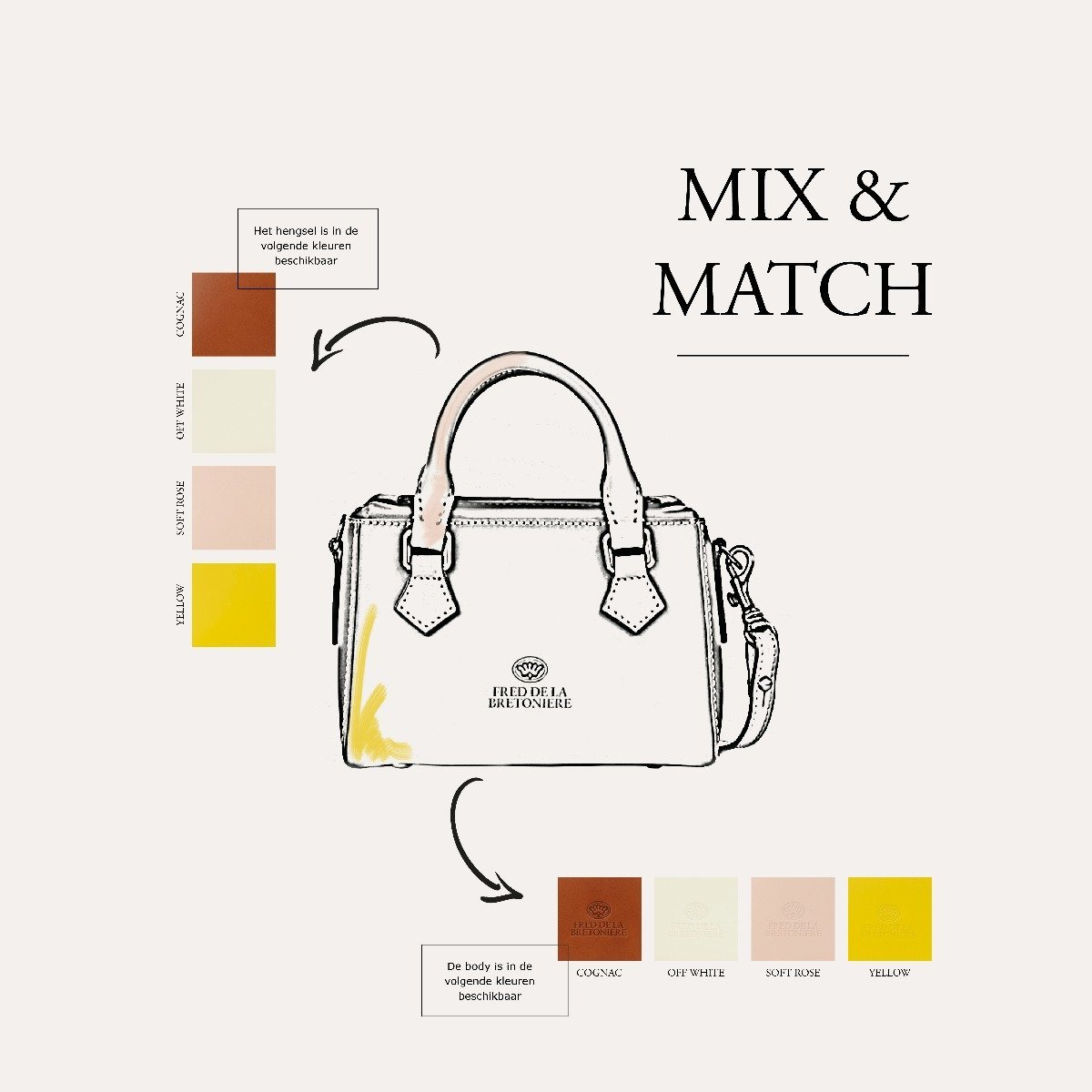 Mix en Match opties Suzanna Bag